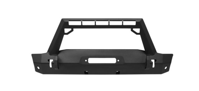 WJ2 Stubby Front Bumper w/LED Light Bar Mount
