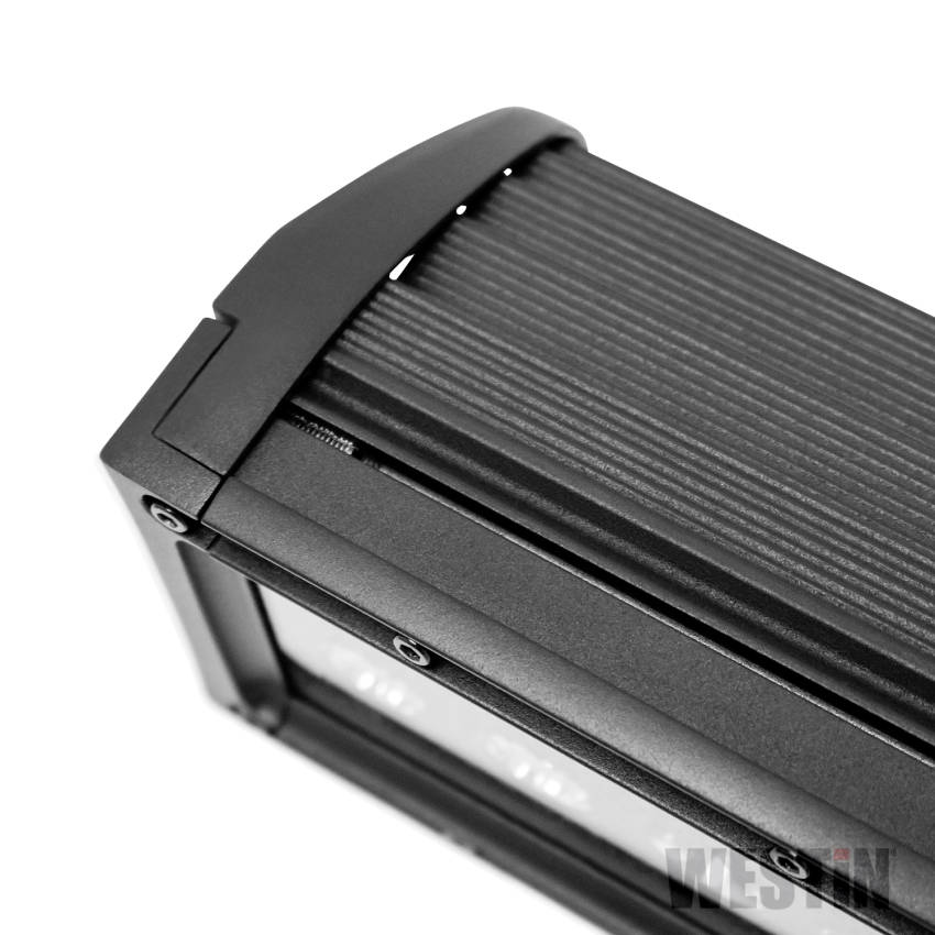 Westin 09-12212-24C B-Force Black Face 12 inch Double Row LED Light Bar with Combo Beam