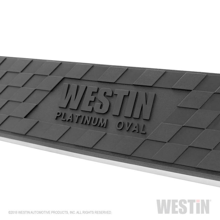Westin 21-1685 Platinum Black Oval Step Bar